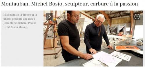 Michel BOSIO - artiste sculpteur montauban la depeche
